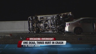 Deadly crash on I-15 near Jean