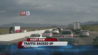 Heavy traffic reported on road to California