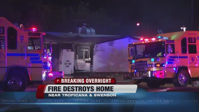 Neighbor displaced after abandoned house fire