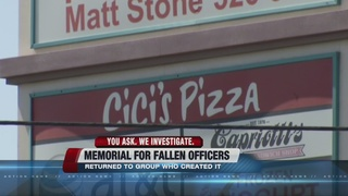 Memorial for fallen officers taken down
