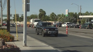 TRAFFIC TROUBLES: Paving begins on Pecos Road