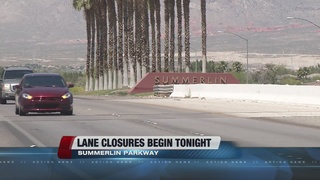 Lane closures begin for Summerlin Pkwy. project
