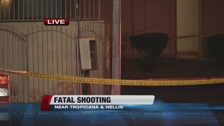 Fatal shooting at Tropicana and Nellis