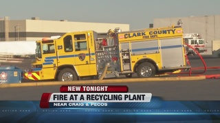 NLV recycling plant catches fire Friday
