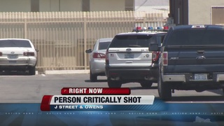 One critical after shooting in central Las Vegas