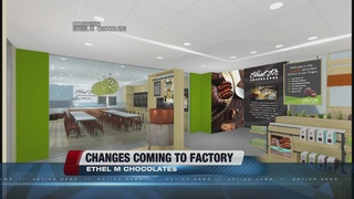 Ethel M Chocolates store undergoing redesign