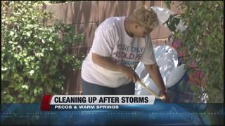 Storm cleanup underway around Las Vegas