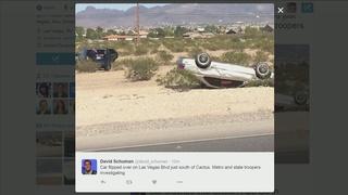 Stolen vehicle rolls over after pursuit