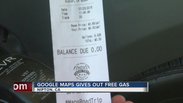 Google Maps gives away free gas, hamburgers