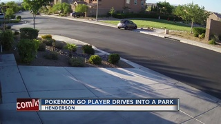 Pokemon Go player drives into a Henderson park