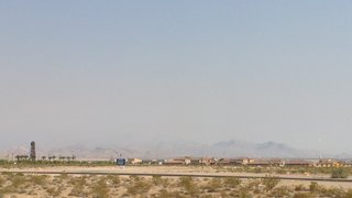 Smoke from wildfire makes for hazy Vegas skies