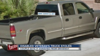 Truck stolen from disabled veteran's driveway