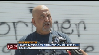 Business owner speaks out on Pahrump graffiti