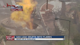 Major gas leak fire reported on Tuesday