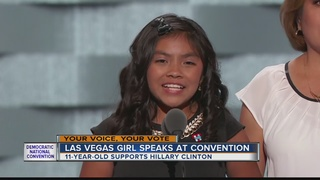 Las Vegas girl speaks at DNC