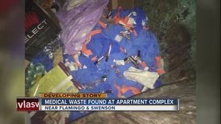Medical waste found inside apartment dumpster