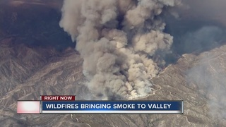 Wildfire fills Las Vegas valley with smoke