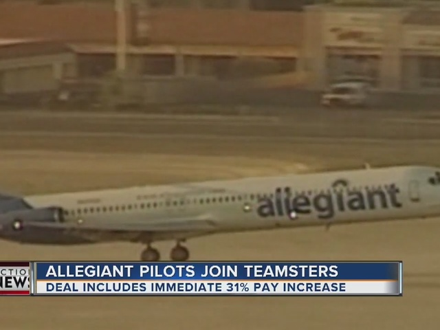 Teamster Allegiant Air Pilots Approve Historic First Contract