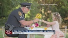 Tea party for girl, officer who saved her life