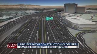 Project Neon construction closures start Sunday