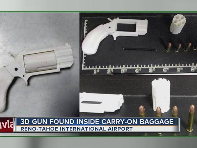 TSA: Plastic 3-D printer gun confiscated at Nevada airport