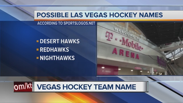 Las Vegas Hockey Team Down to Three Names
