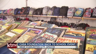 Foster kids take part in back-to-school event