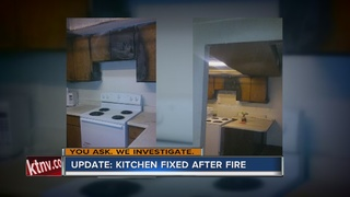 UPDATE: Apartment fixing kitchen after fire