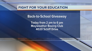 Mayweather Jr. Foundation Back-to-School drive
