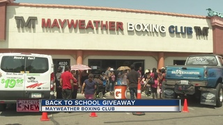 Mayweather Boxing Club back-to-school giveaway