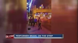 Fight near Las Vegas Strip spills into street