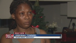 Family wakes up to flooded apartment