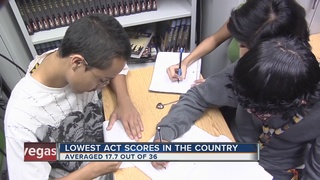 NV ACT scores for 2016 worst in nation