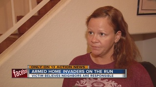 Mother confronts people she thinks broke in home