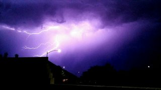 Storm brings lightning, rain, hail to valley