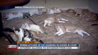 Accused cat hoarder skips court again