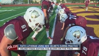 Football helmet padding reduces concussions