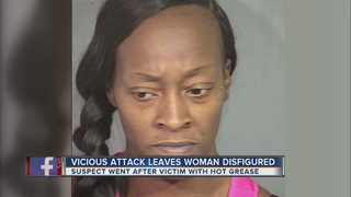 Woman attacks victim with boiling cooking grease