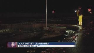 Lightning strikes woman's SUV