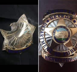 NHP tweets pic of badge that stopped bullet