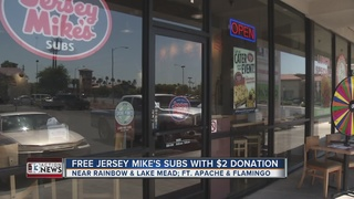 Jersey Mike's gives away subs with donation