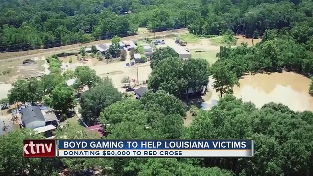 Boyd Gaming donating $50K to La. flood victims