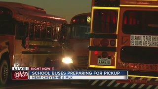 Bus drivers prepare for the first day of school