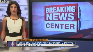 Child recovering after accidental shooting