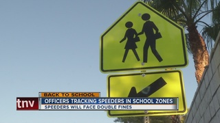 Officers enforce school zone traffic laws