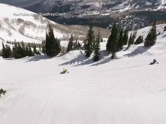 Right This Minute: Dirtbike skiers encounter snowmen