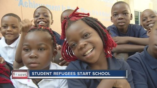 Dozens of refugees starting school in county