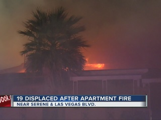 UPDATE: 19 displaced in apartment complex fire