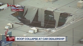 Chopper 13 finds roof collapse at car dealership