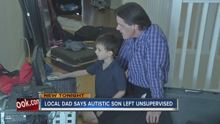 Father: Autistic son unsupervised at school